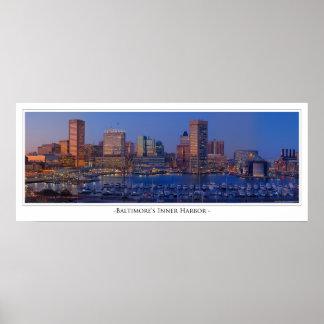 Baltimore Inner Harbor at Dusk Poster