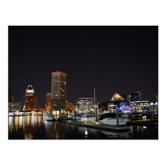 Baltimore Inner Harbor at Night Post Cards