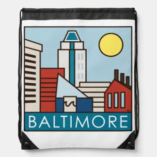 Baltimore Inner Harbor Drawstring Bag