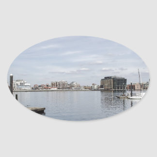 Baltimore Inner Harbor Oval Sticker