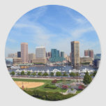 Baltimore Inner Harbor Round Stickers