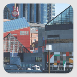 Baltimore Inner Harbor Square Sticker