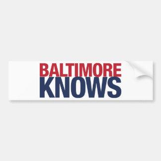 Baltimore Knows Bumper Sticker