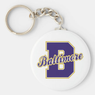 Baltimore Letter Basic Round Button Keychain