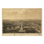 Baltimore Maryland 1862 Antique Panoramic Map Poster