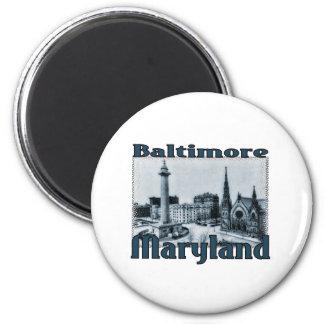 Baltimore, Maryland 2 Inch Round Magnet