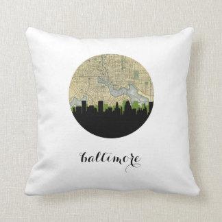 Baltimore, Maryland   Baltimore skyline Throw Pillow