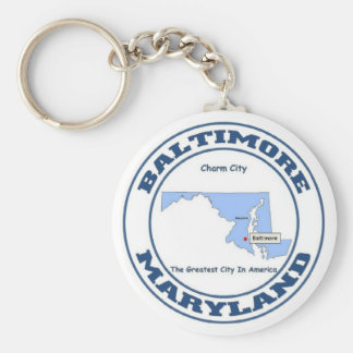 Baltimore, Maryland Basic Round Button Keychain