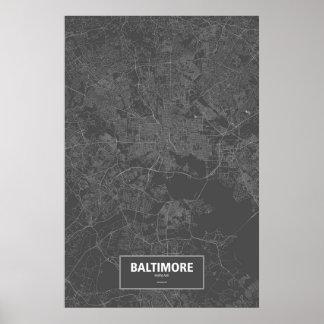 Baltimore, Maryland (blanco en negro) Poster