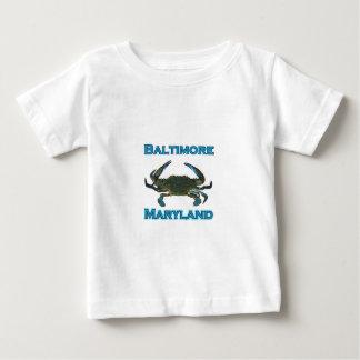 Baltimore Maryland Blue Crab Logo T-shirts
