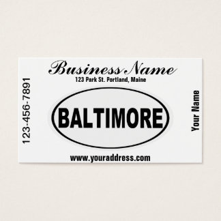 Baltimore Maryland Business Card