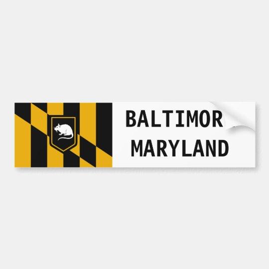 Baltimore Maryland Charm City Rat Sticker Zazzle