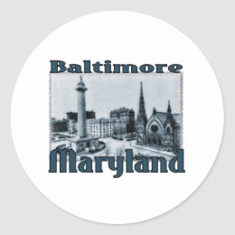 Baltimore, Maryland Classic Round Sticker