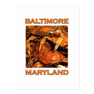 Baltimore Maryland cocido al vapor critica Tarjetas Postales