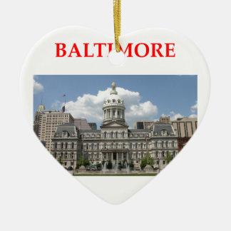 Baltimore Maryland Adorno De Cerámica En Forma De Corazón