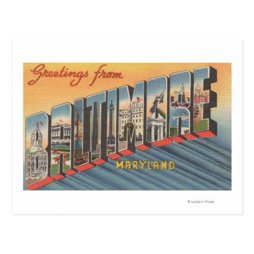 Baltimore, Maryland - escenas grandes 2 de la Tarjetas Postales