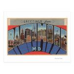 Baltimore, Maryland - escenas grandes de la letra Tarjetas Postales