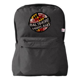 Baltimore Maryland flag grunge backpack