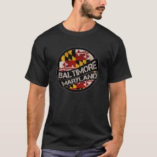 Baltimore Maryland flag grunge scroll T-Shirt
