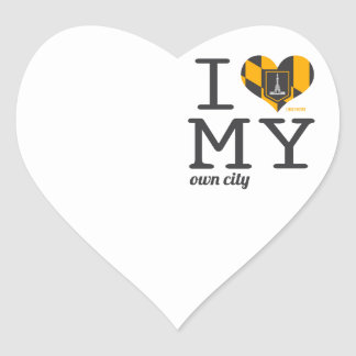 Baltimore Maryland I love my own city Heart Sticker