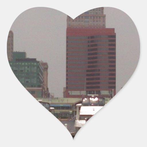 Baltimore Maryland Innerharbor Souveneirs Pegatina En Forma De Corazón