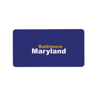 Baltimore, Maryland  Labels