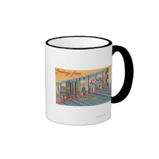 Baltimore, Maryland - Large Letter Scenes 2 Ringer Coffee Mug