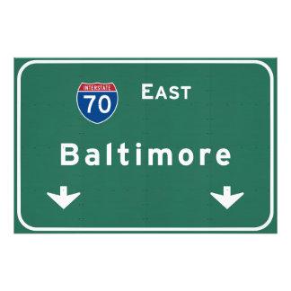 Baltimore Maryland md Interstate Highway Freeway : Photo Print