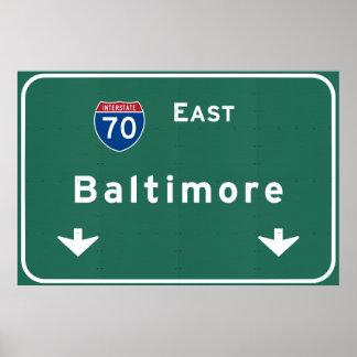 Baltimore Maryland md Interstate Highway Freeway : Poster