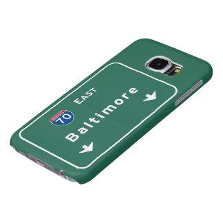 Baltimore Maryland md Interstate Highway Freeway : Samsung Galaxy S6 Case