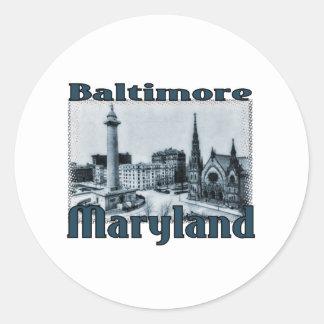 Baltimore, Maryland Pegatina Redonda