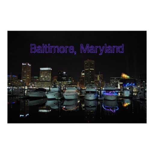 Baltimore, Maryland Poster
