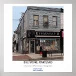 baltimore, hampden, buildings, pharmacy,