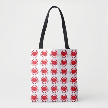 Beach Themed Baltimore Maryland Red Hard Shell Crab Crabs Tote