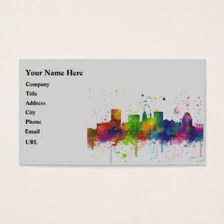 BALTIMORE MARYLAND SKYLINE BUSINESS CARD