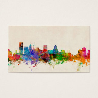 Baltimore Maryland Skyline Cityscape Business Card