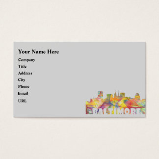 BALTIMORE MARYLAND SKYLINE MCLR2 BUSINESS CARD