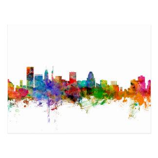 Baltimore Maryland Skyline Postcard