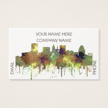 Professional Business Baltimore Maryland Skyline  Safari Buff Business Card