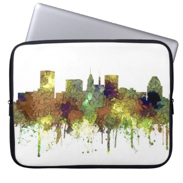 Professional Business Baltimore Maryland Skyline  Safari Buff Computer Sleeve