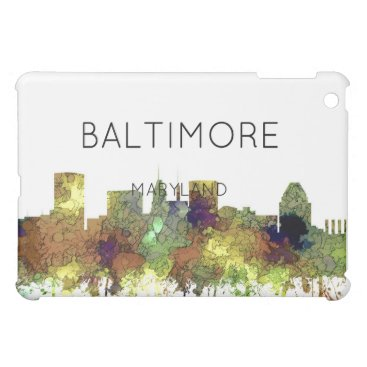 Professional Business Baltimore Maryland Skyline  Safari Buff iPad Mini Cases