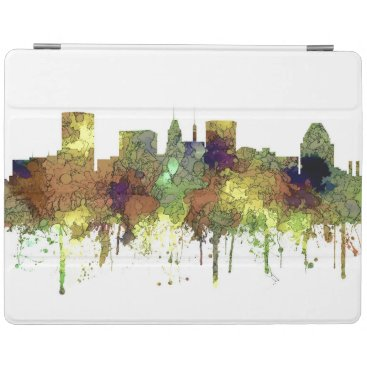 Professional Business Baltimore Maryland Skyline  Safari Buff iPad Smart Cover
