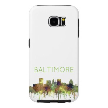 Professional Business Baltimore Maryland Skyline  Safari Buff Samsung Galaxy S6 Case