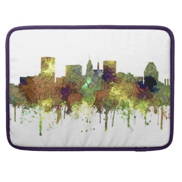 Professional Business Baltimore Maryland Skyline  Safari Buff Sleeve For MacBook Pro