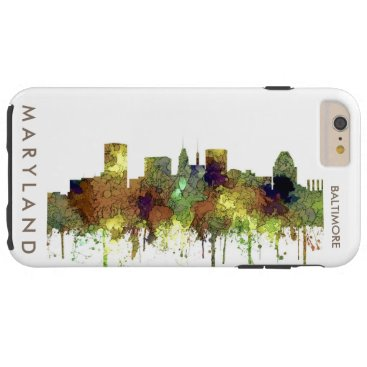 Professional Business Baltimore Maryland Skyline  Safari Buff Tough iPhone 6 Plus Case