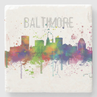 BALTIMORE MARYLAND SKYLINE STONE COASTER