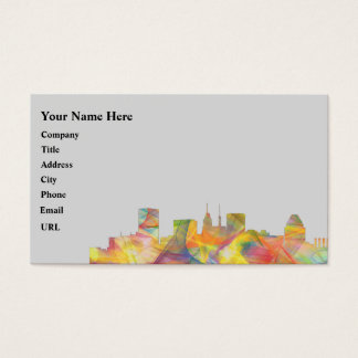 BALTIMORE MARYLAND SKYLINE WB1 - BUSINESS CARD