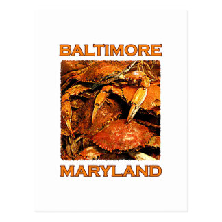 Baltimore Maryland Steamed Crabs Logo Postcard