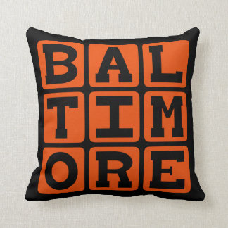 Baltimore, Maryland United States Pillow
