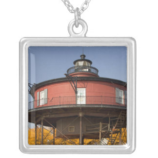 BALTIMORE, MARYLAND. USA. Seven-Foot Knoll Silver Plated Necklace